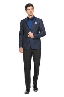 bb870c54477 Suits   Blazers 216 Products. Peter England Black Two Piece Suit